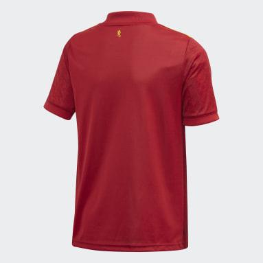 Camiseta Local España Rojo Niño Fútbol