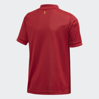 Kids Football Red Spain Home Jersey