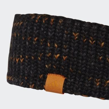 Cinta para el pelo Fleece-Lined AEROREADY Knit Negro Mujer Gimnasio Y Entrenamiento