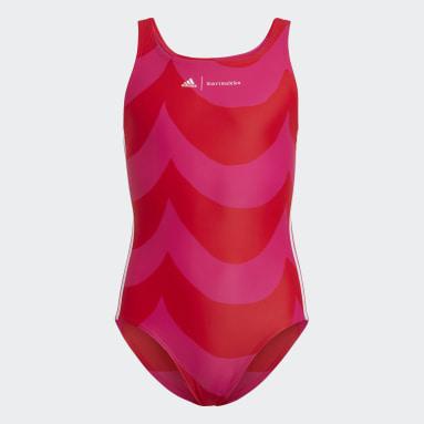 Girls Simning Rosa Marimekko Laine Swimsuit