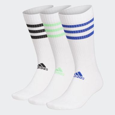 Sports Hvid 3-Stripes Cushioned tennissokker, 3 par