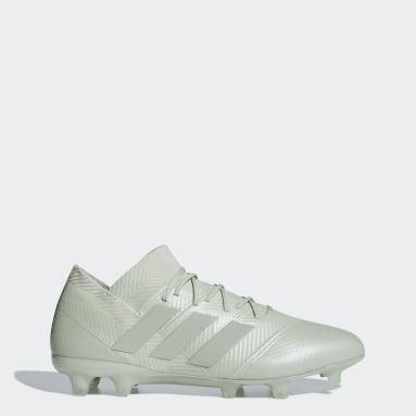 Calzado de fútbol Nemeziz 18.1 césped natural seco Gris Hombre Fútbol