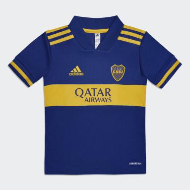 Mini Uniforme Visitante Boca Juniors 20/21 (UNISEX) Azul Niño Fútbol