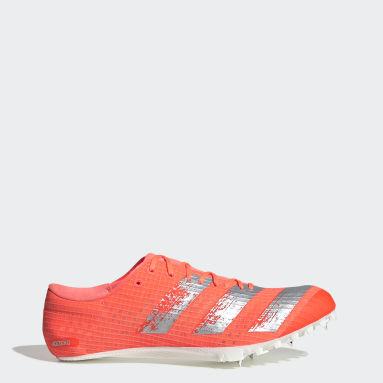 Zapatillas de atletismo con clavos Adizero Finesse Naranja Hombre Running