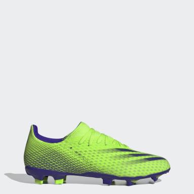Bota de fútbol X Ghosted.3 césped natural seco Verde Fútbol