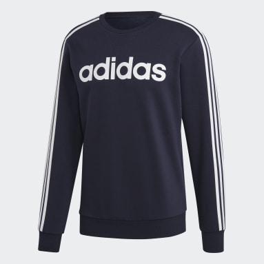 Men's Essentials Blue Essentials 3-Stripes Sweatshirt