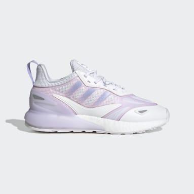 ผู้หญิง Originals สีขาว รองเท้า ZX 2K Boost 2.0