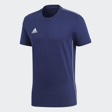 Camiseta Core 18 Azul Hombre Gimnasio Y Entrenamiento