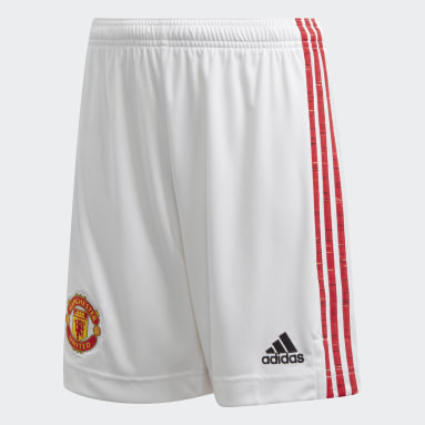 Kids Football White Manchester United 20/21 Home Shorts