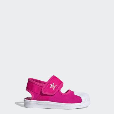 Děti Originals růžová Sandály Superstar 360