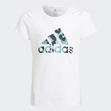 Camiseta AEROREADY Animal Logo Print Slim Training Blanco Niña Gimnasio Y Entrenamiento
