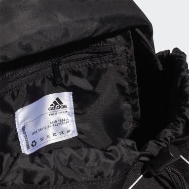 Women Yoga Black Flap Backpack