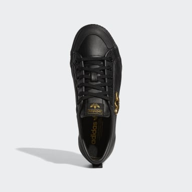Women Originals Black Nizza Trefoil Shoes