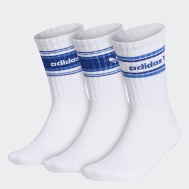 Men's Originals White Forum Rib Crew Socks 3 Pairs
