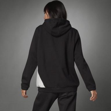 Women Sportswear Black Logo Hoodie