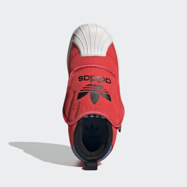 Bota Superstar 360 Rojo Niño Originals