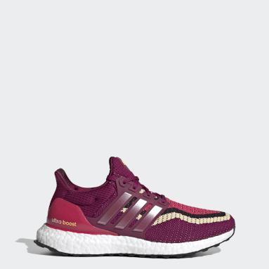 Women Running Burgundy Ultraboost DNA Shoes