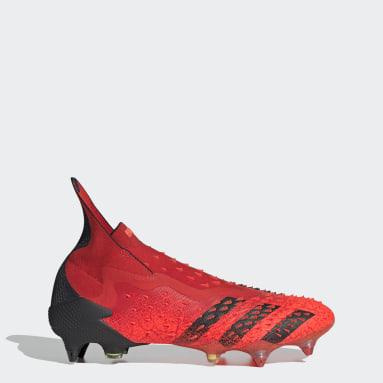 Botas de Futebol Predator Freak+ – Piso mole Vermelho Futebol