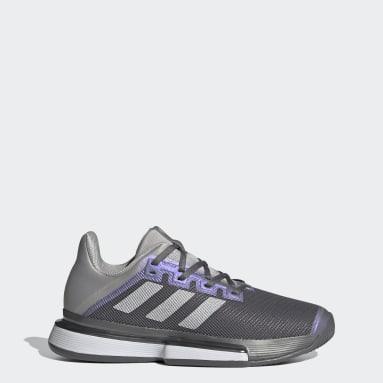 Women Padel Tennis Grey SoleMatch Bounce Tennis Shoes