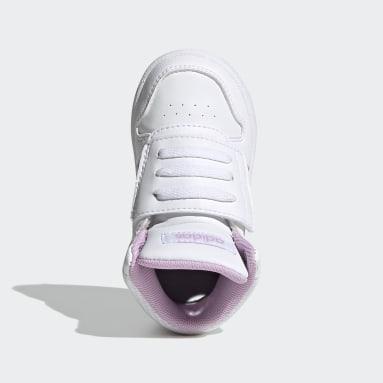 Kinderen Basketbal Wit Hoops 2.0 Schoenen