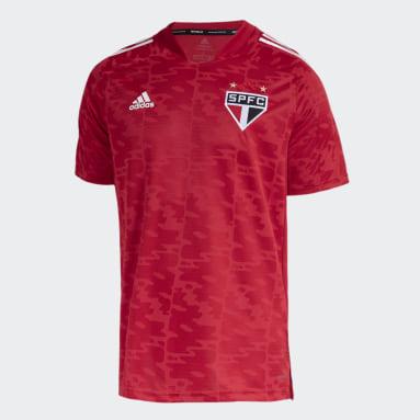 CAMISA PRÉ JOGO SÃO PAULO FC Vermelho Homem Futebol