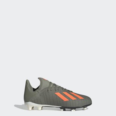 Boys Football Green X 19.3 Firm Ground Boots