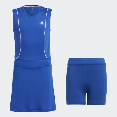 синий Платье для тенниса Pop-Up