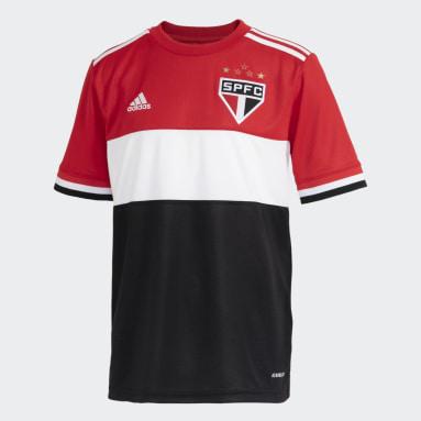 Camisa 3 São Paulo FC 21 Infantil Vermelho Meninos Futebol