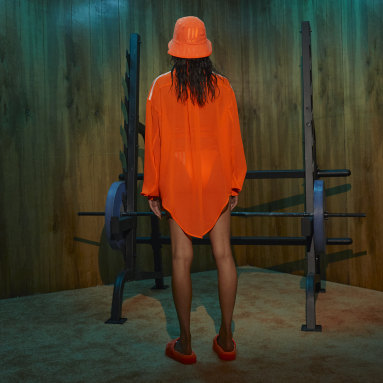 Women Originals Orange Swim Cover-Up Shirt