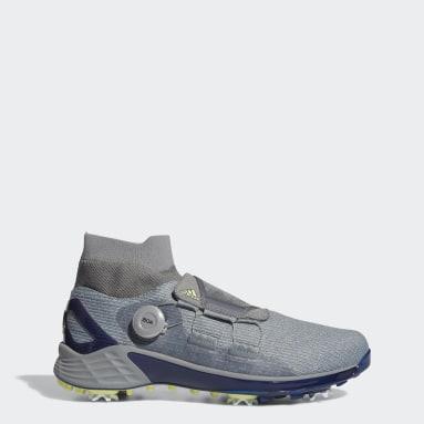 Men Golf Grey ZG21 Motion Primegreen BOA Mid-Cut Golf Shoes
