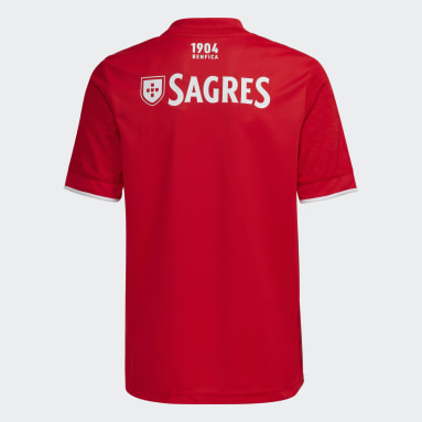 Youth 8-16 Years Football Red Benfica 21/22 Home Jersey