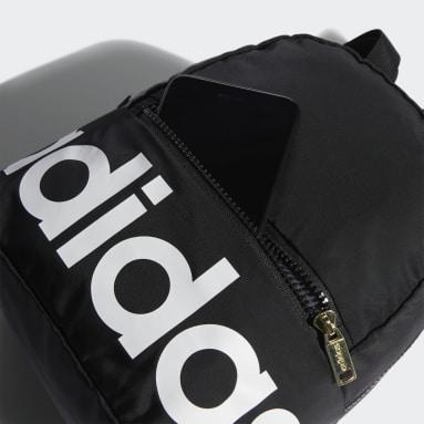 Essentials Black Linear Mini Backpack