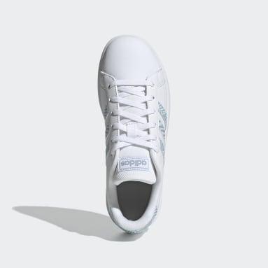 Tenis adidas Grand Court Blanco Niño Diseño Deportivo