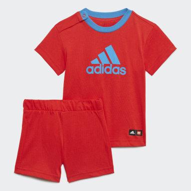 Infants เทรนนิง สีแดง ชุด adidas x Classic LEGO® สำหรับหน้าร้อน