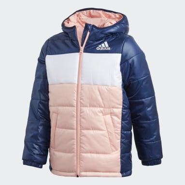 Børn Fitness Og Træning Blå Padded jakke