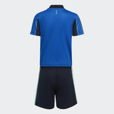 Mini kit Extérieur Ajax Amsterdam 21/22 Bleu Enfants Football