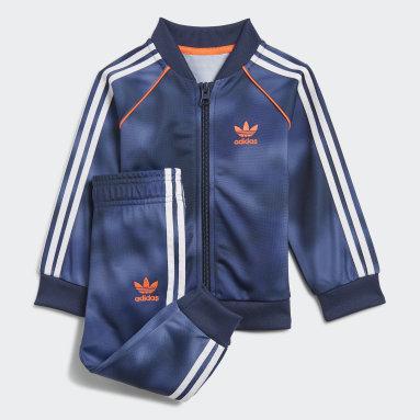 Boys Originals Blue Allover Print Camo SST Track Suit