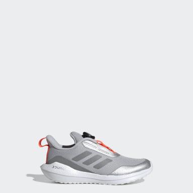 Kids 4-8 Years Running Silver EQ21 Run Freelock Running Shoes