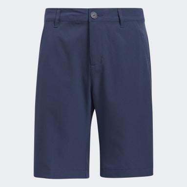 Boys Golf Blue Solid Golf Shorts