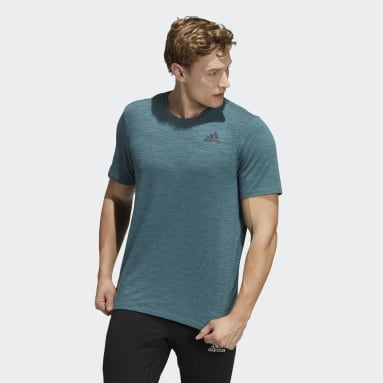 Camiseta City Elevated Verde Hombre Gimnasio Y Entrenamiento