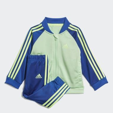 Survêtement 3-Stripes Tricot Vert Enfants Fitness Et Training