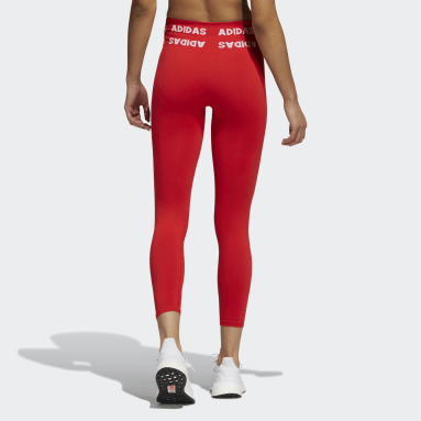 Tight 7/8 Training Aeroknit High-Rise Rosso Donna HIIT