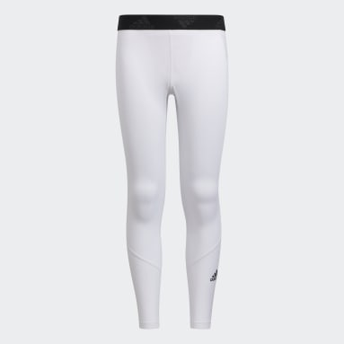 Youth Training White Techfit Tights