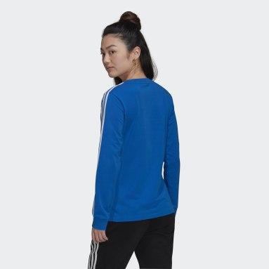 T-shirt Adicolor Classics Long Sleeve Bleu Femmes Originals