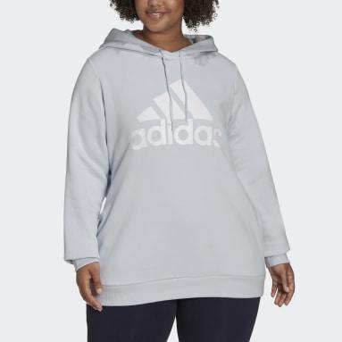 Women's Essentials Blue Essentials Logo Fleece Hoodie (Plus Size)