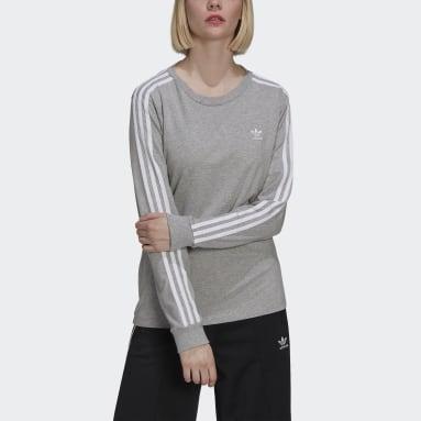 Camiseta manga larga Adicolor Classics Gris Mujer Originals