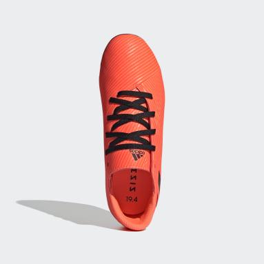 Boys Football Orange Nemeziz 19.4 Flexible Ground Boots