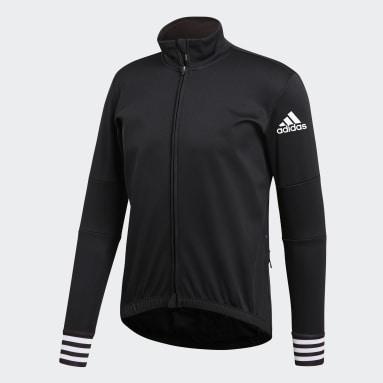 Maillot - Camiseta de ciclismo  adistar Clima Frío Negro Hombre Ciclismo