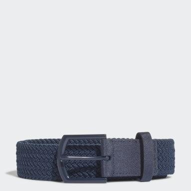 Golf Blue Braided Stretch Belt