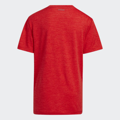 Youth Training Red Inflated Badge of Sport Tee